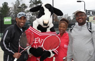 Hanging out with friends at Chick-Fil-A Winter Challenge, Sumter, SC - Jan 2010